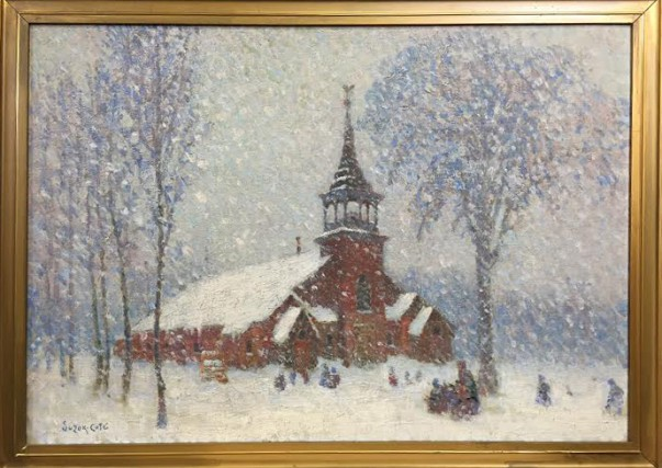 Le tableau La vieille église de Sherbrooke-Est par... (Photo fournie)