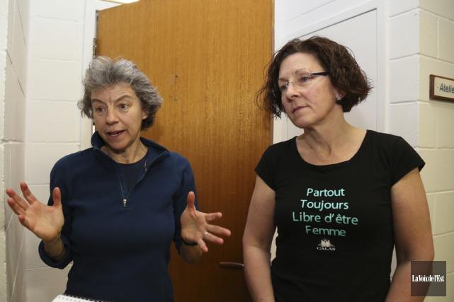 Céline Godbout, formatrice du CRAN des femmes et... (Julie Catudal, La Voix de l'Est)