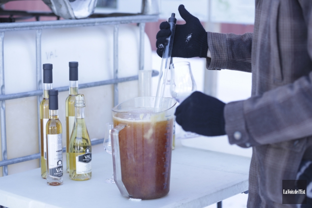 Production de cidre de glace au vignoble Val... (photo Catherine Trudeau, archives La Voix de l'Est)