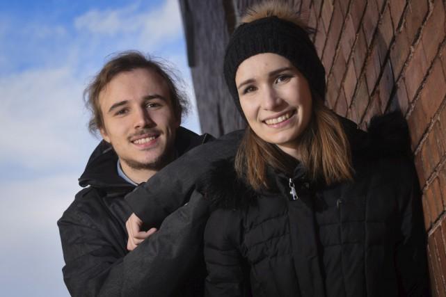 Le duo créatif derrière le jeune groupe trifluvien... (François Gervais)