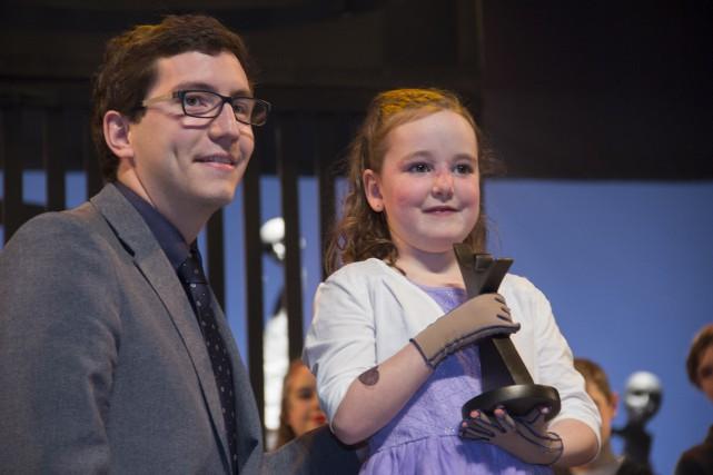 La petite Léany Lemay a été récompensée pour... (Spectre Média, Marie-Lou Béland)