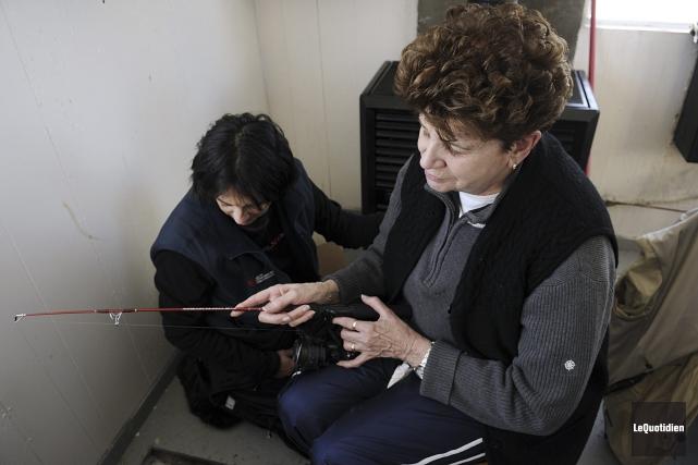 Andrée Lachance, qui a complètement perdu la vue... (Photo Le Quotidien, Mariane L. St-Gelais)