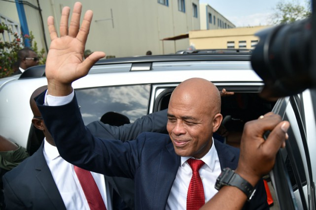 Michel Martelly... (PHOTO AFP)
