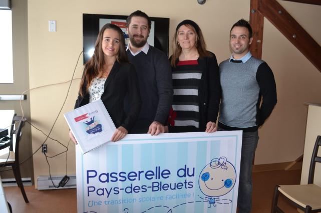 Sandy Grenier Boulianne, Jean-Martin Cloutier, Brigitte Gagné et... (Photo courtoisie)