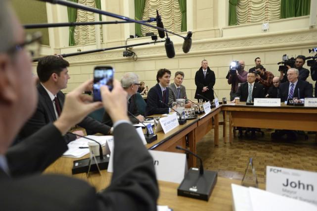 Le premier ministre Justin Trudeau a rencontré les... (PC, Sean Kilpatrick)