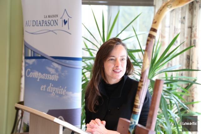 L'actrice Pascale Bussières.... (Janick Marois, La Voix de l'Est)