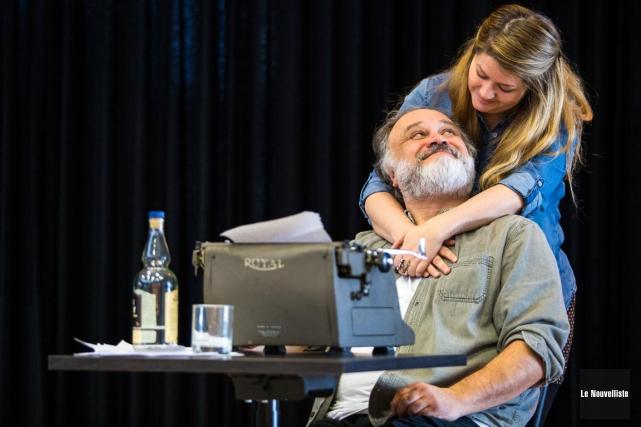 En François Gagné, le metteur en scène Luc... (Olivier Croteau, Le Nouvelliste)