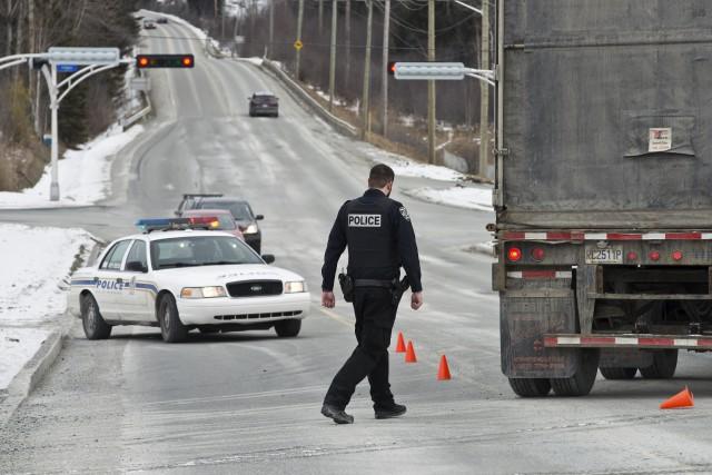 Selon les policiers, le conducteur du véhicule aurait... (Spectre, Jessica Garneau)