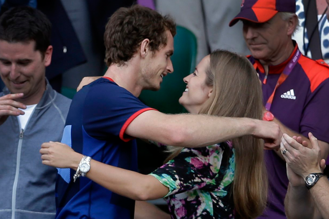 Andy Murray et son épouse Kim Sears... (Photo Victor R. Caivano, archives AP)