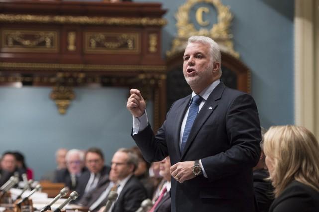 À l'Assemblée nationale, Philippe Couillard s'est défendu de... (La Presse Canadienne)