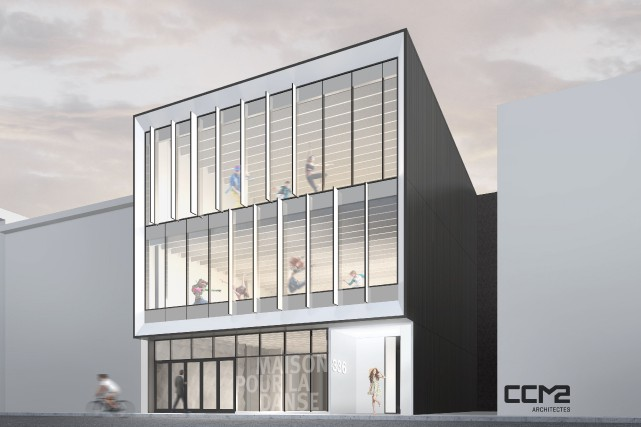 Façade de la future Maison de la danse... (fournie par CCM2 Architectes)