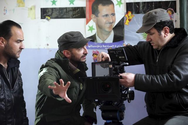 C'est au milieu des ruines que Joud Saïd... (AFP)