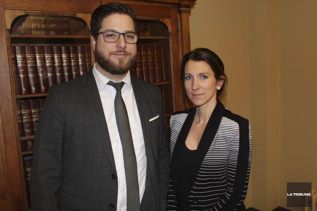 Me Julien Collin et Me Isabelle Cloutier de... (La Tribune, René-Charles Quirion)