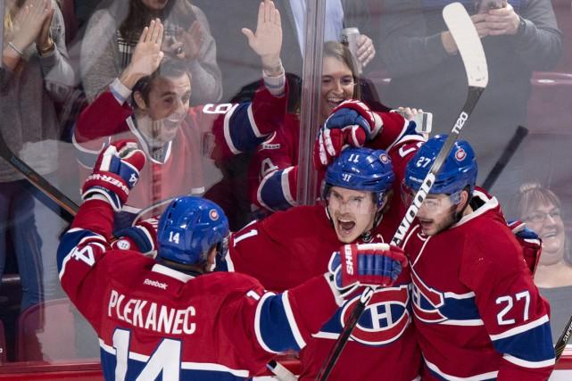 Le trio de Tomas Plekanec, Brendan Gallagher et... (La Presse Canadienne)