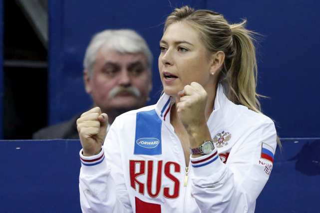 Maria Sharapova... (Photo Grigory Dukor, Reuters)