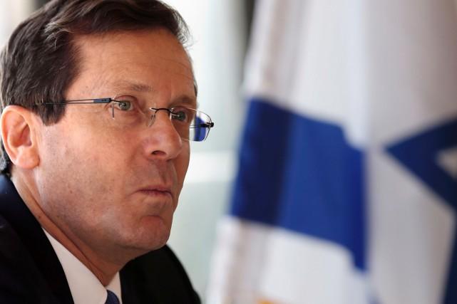 IsaacHerzog, chef travailliste de l'Union sioniste, principale force... (PHOTO THOMAS COEX, AFP)