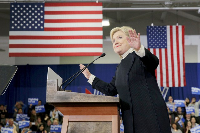 Hillary Clinton a promis de se battre «pour... (PHOTO BRIAN SNYDER, REUTERS)