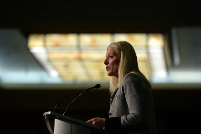 La ministre de l'Environnement du Canada, Catherine McKenna... (Photo Sean Kilpatrick, La Presse Canadienne)