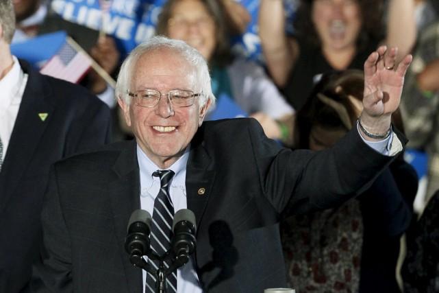 Le candidat à l'investiture démocrate Bernie Sanders lors... (Photo Rick Wilking, Reuters)