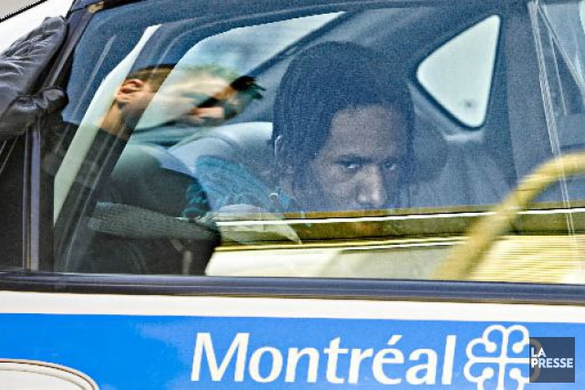 Benson Benoit, lors de son arrestation en 2008... (Photo: Patrick Sanfaçon, archives La Presse)
