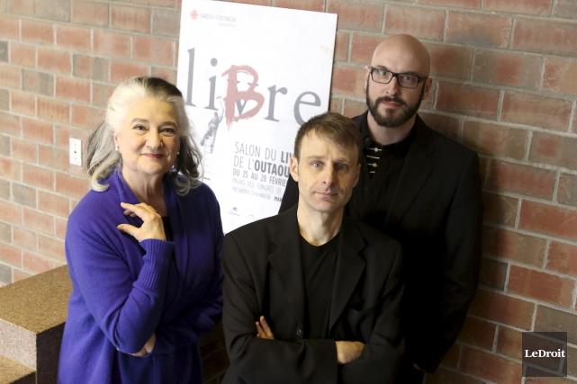 Marie Laberge, Nicolas Dickner et Martin Michaud seront... (Patrick Woodbury, LeDroit)