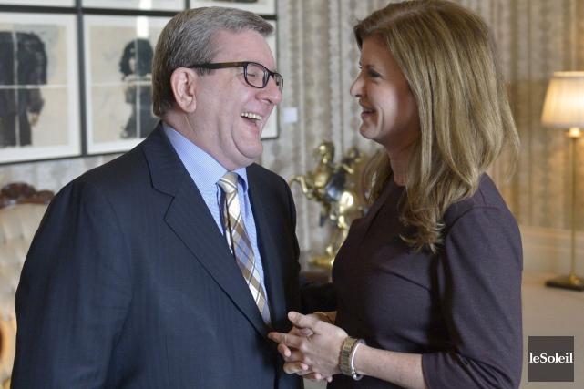 Le maire Labeaume a rencontré la chef intérimaire... (Le Soleil, Yan Doublet)