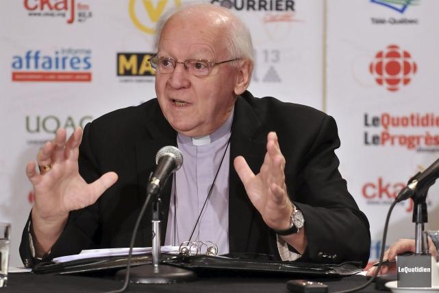 Monseigneur André Rivest était l'invité du Cercle de... (Photo Le Quotidien, Rocket Lavoie)