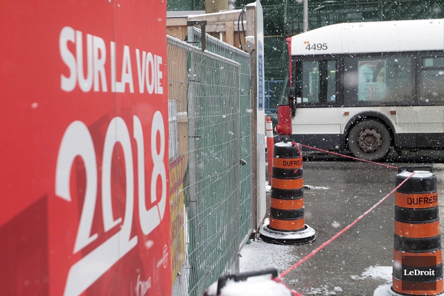 Le Transitway sera complètement fermé aux autobus entre... (Etienne Ranger, LeDroit)