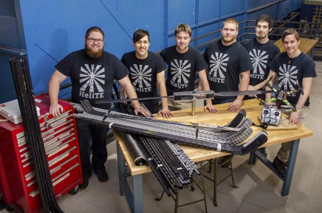 L'équipe de futurs ingénieurs du projet HeliTE. est... (Photo fournie)