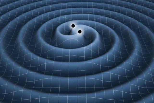 L'onde gravitationnelle qui a été détectée aurait été... (IMAGE FOURNIE PAR LA NASA)
