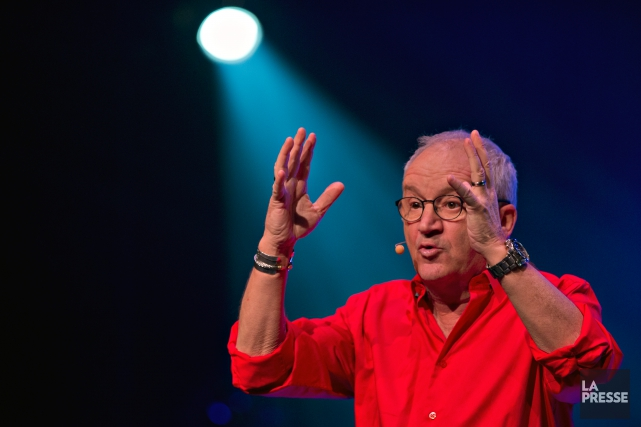 L'humoriste et comédien Michel Barrette présentait, mardi, la... (PHOTO OLIVIER JEAN, LA PRESSE)