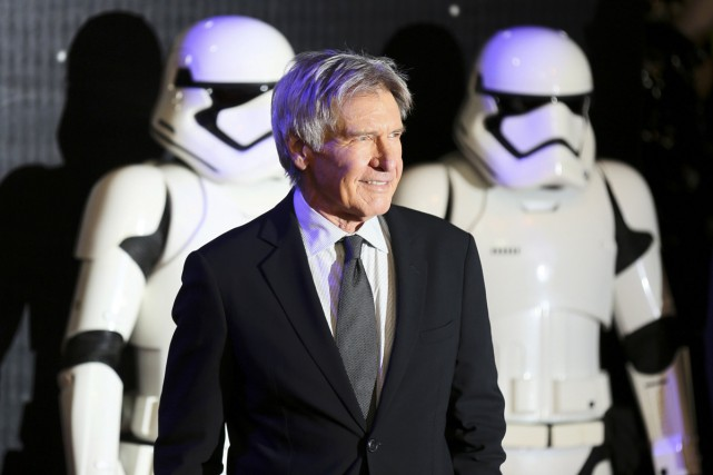 Harrison Ford à la première du film Star... (PHOTO ARCHIVES REUTERS)