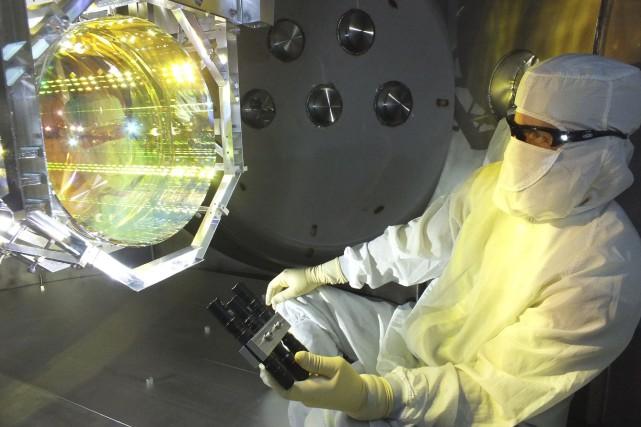 Ces ondes gravitationnelles ont été détectées aux États-Unis... (PHOTO ARCHIVES AFP/MIT/LIGO Lab)