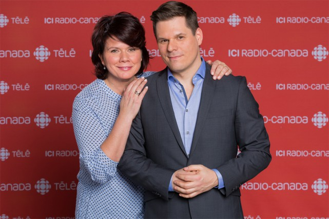 Marina Orsini et Patrick Lagacé animeront Deuxième chance.... (PHOTO FOURNIE PAR RADIO-CANADA)