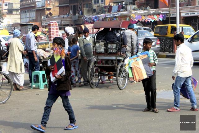 Quand Jaipur célèbre le Festival des cerfs-volants, les... (La Tribune, Jonathan Custeau)