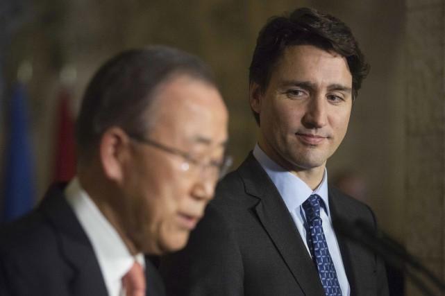 Le secrétaire général de l'ONU, Ban Ki-moon, de... (AFP, Chris Roussakis)