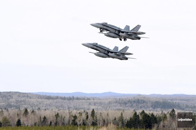 «Nos CF-18 comptaient pour moins de 3% des... (PHOTO JEANNOT LÉVESQUE, ARCHIVES LE QUOTIDIEN)