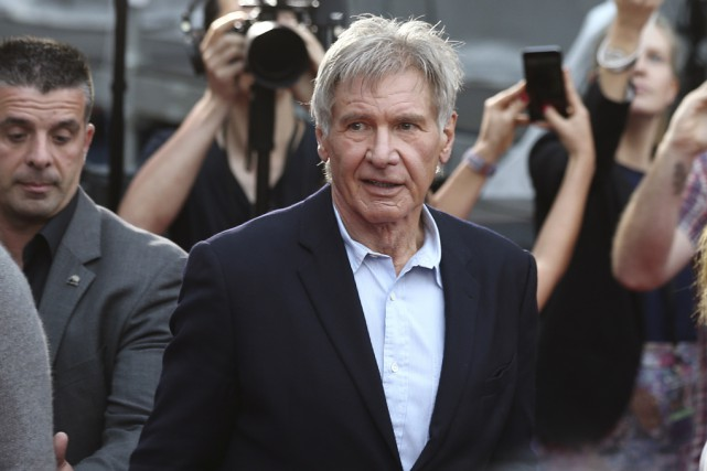 L'acteur Harrison Ford a été frappé par une porte... (Archives Associated Press)