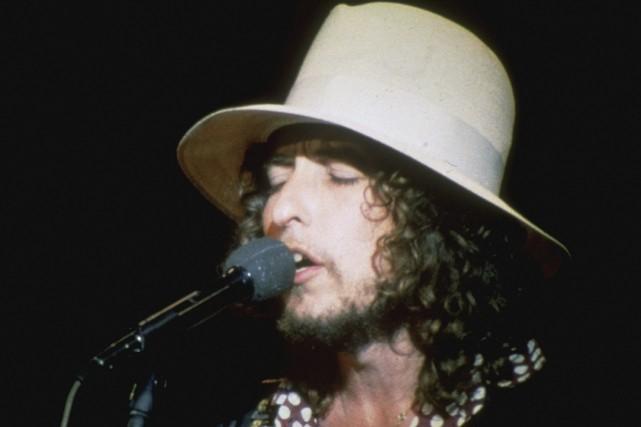Bob Dylan en 1969.Le producteur JanHaust et l'ingénieur... (Archives PC)