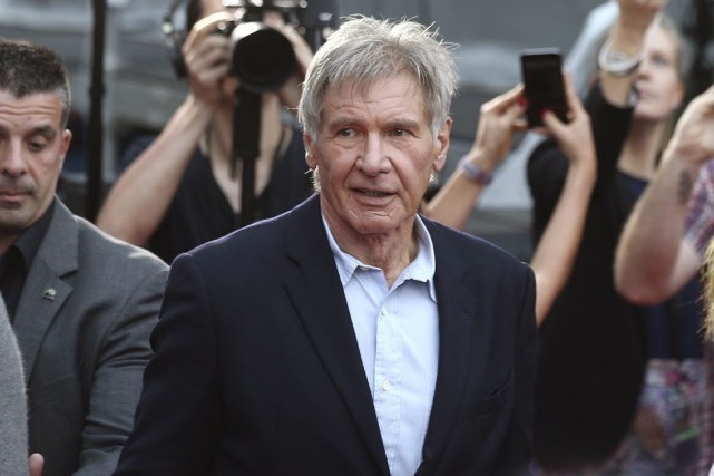 Harrison Ford a été frappé par une porte hydraulique... (Archives Associated Press)