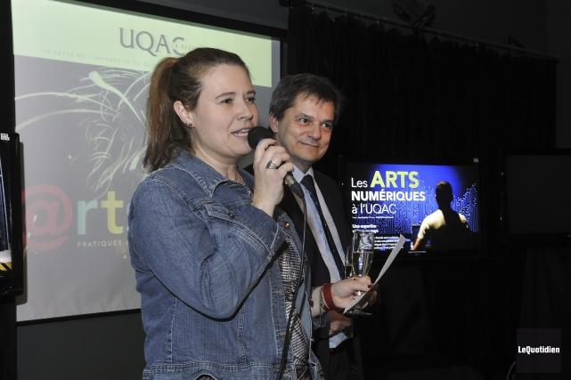Marie-Karlynn Laflamme et Martin Gauthier ont lancé la... (Photo Le Quotidien, Rocket Lavoie)