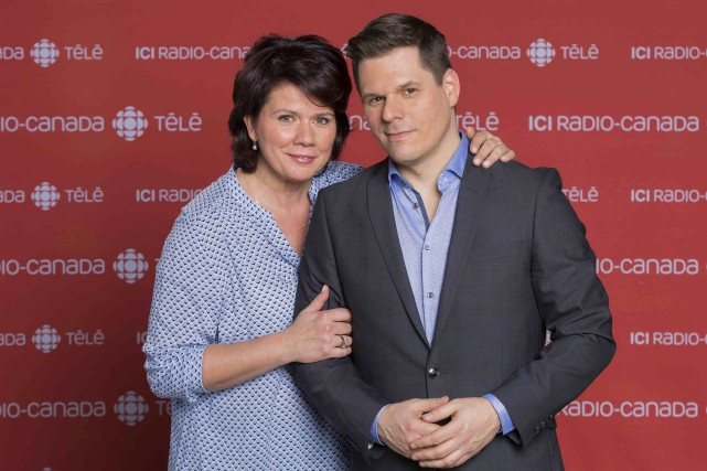 Dans Deuxième chance, Marina Orsini et Patrick Lagacé... (Fournie par ICI Radio-Canada Télé)