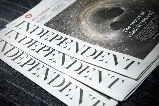 Avec environ 60000ventes par jour,The Independentest le quotidien... (PHOTO ADRIAN DENNIS, AFP)