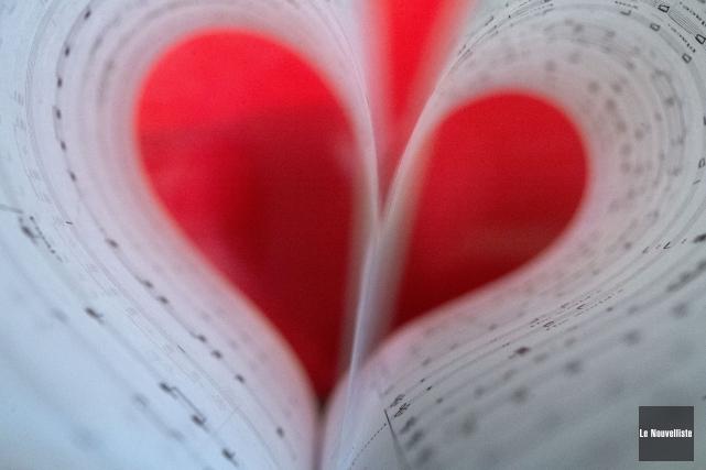 À l'occasion de la Saint-Valentin, grande fête de l'amour, Le... (Photo: Stéphane Lessard Le Nouvelliste)