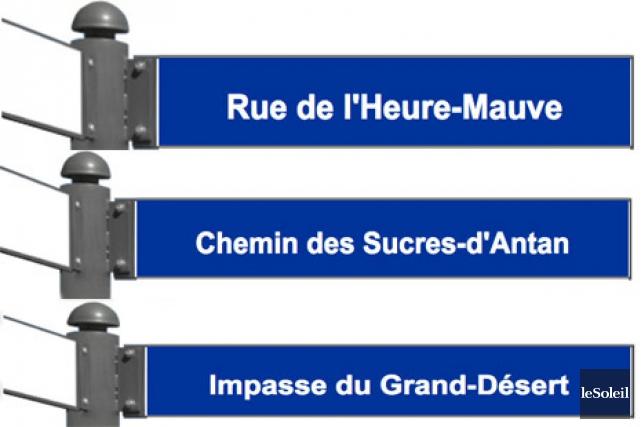 Le Coin-Marouf, charmant, non? Et que dire de l'impasse du Grand-Désert, la rue... (Infographie, Le Soleil)