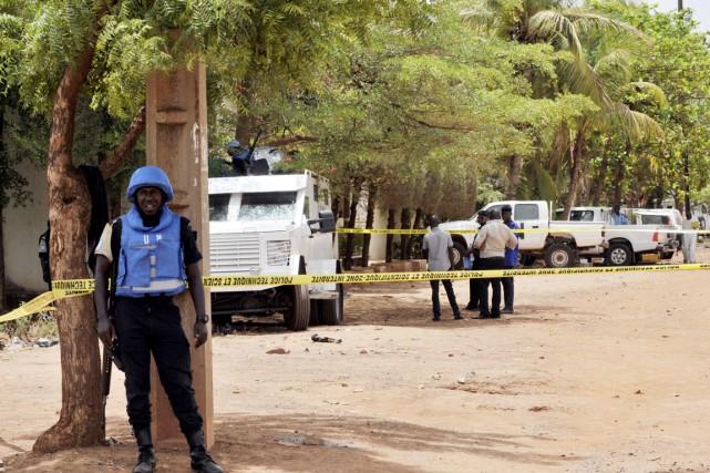 La MINUSMA, déployée depuis juillet 2013, est la... (PHOTO HABIBOU KOUYATE, ARCHIVES AFP)