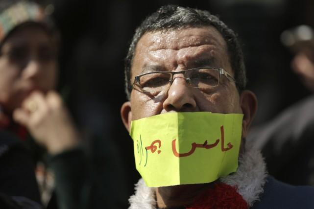 La manifestation a été organisée après que deux... (Photo Amr Nabil, AP)