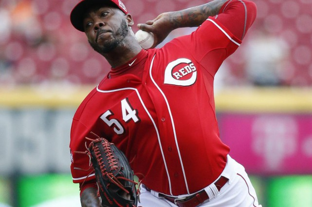 Aroldis Chapman... (Photo John Minchillo, archives AP)