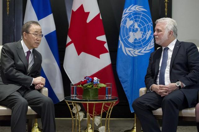 Après que le maire Denis Coderre eut souligné... (La Presse Canadienne)