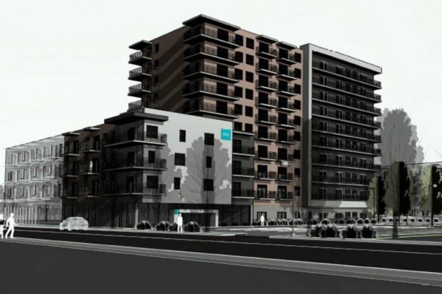 L'immeuble de 10 étages s'inscrit dans le cadre... (Illustration fournie par la Ville de Granby)